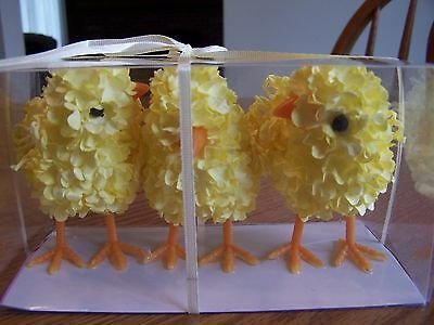 CHICKS ~ 3 Adorable Easter Chicks..... Bright Yellow