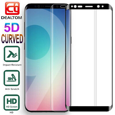 Full Cover Tempered Glass Screen Protector For Samsung Galaxy S9 S8 Plus S7 Edge