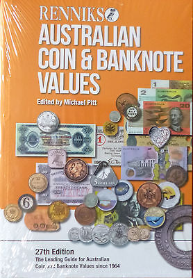 RENNIKS AUSTRALIAN COIN & BANKNOTE Values 2016 27th Edition SOFT COVER Book