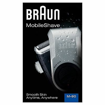 Braun MobileShave M-90 Mens Portable Electric Foil Shaver Travel Battery Razor
