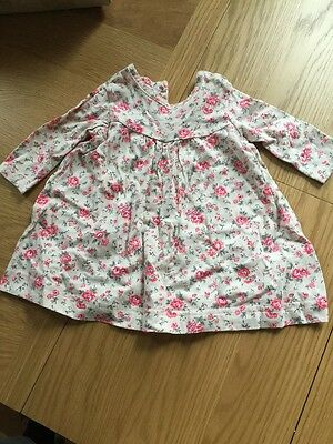 Cath Kidston Baby Girl Jersey Dress Age 0-3 Months