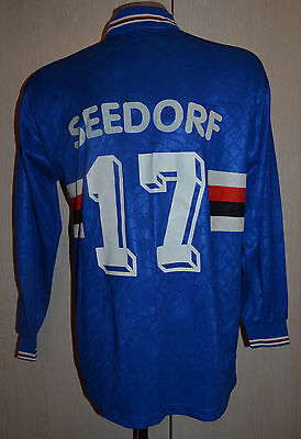 Sampdoria Italy 1995/1996 Home Football Shirt Maglia Jersey Asics #17 Seedorf