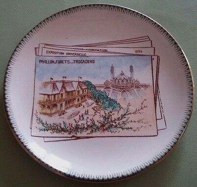 Assiette Choisy le Roi Exposition Universelle 1889 Antique French Majolica plate