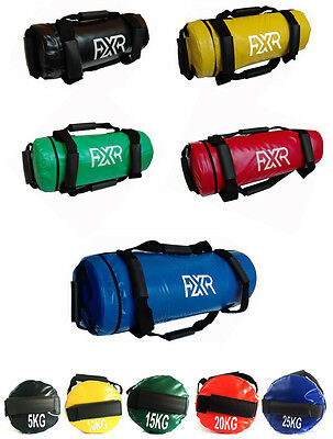 Fxr Filled Weight Power Bag Crossfit Fitness Mma Sand Boxing Handles Powerbags