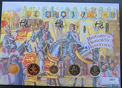 Uk-Britains Heraldic Heritage Coin First Day Cover 1998