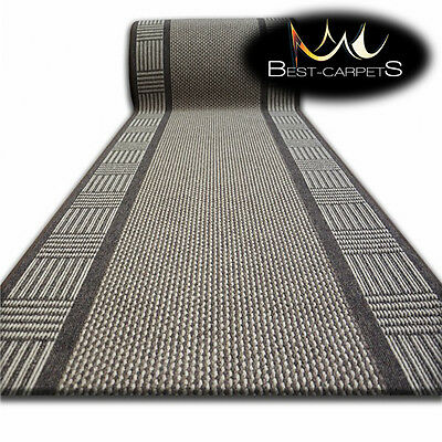 Runner Rugs SMART brown, NON-slip Modern, Stairs Width 67cm-100cm extra long