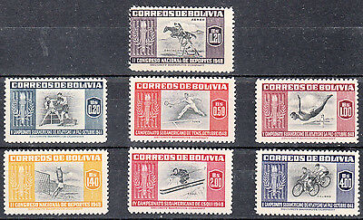 Bolivia Comm.5th Athletic Championship La Paz 1948 1951 YT:319/25 complete MNH