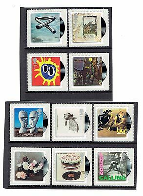 GB 2010 Classic Album Covers. Set of 10 SINGLES. SG2999-3008, UnMounted Mint