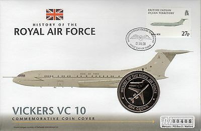 PNC BIOT, History of the RAF Vickers VC10 Crown coin & stamp, (34)