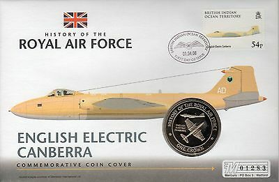 PNC Tristan De Cunha, History of the RAF Canberra Crown coin & stamp, (36)