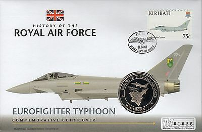 PNC Kiribati, History of the RAF, Eurofighter Typhoon, Crown coin & stamp, (40)