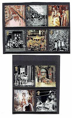 GB 2003 Coronation Anniversary. Set of 10 SINGLES. SG2368-2377, UnMounted Mint