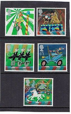 GB 2002 Circus (Europa), Set of 5. SG2275-2279, UnMounted Mint