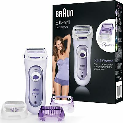 Braun Silk-epil Women Cordless Rechargeable Foil Shaver Legs Body Trimmer LS5560