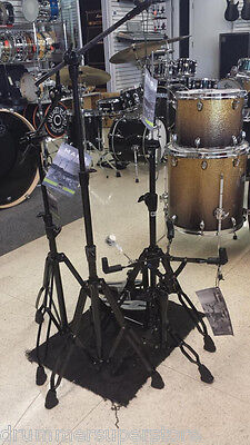 Mapex Mars Series HP6005EB 5 Piece Black Plated Hardware Pack Stand Single Pedal