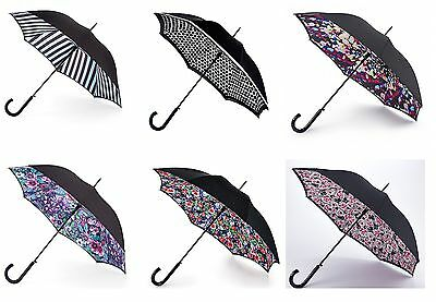 Fulton Bloomsbury-2 Ladies Walking Long Crafted Umbrella in Different Patterns