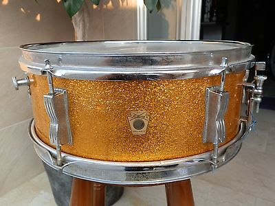"Caja Ludwig Gold Sparkle 14""x5"" Vintage 1966 Snare Drums"