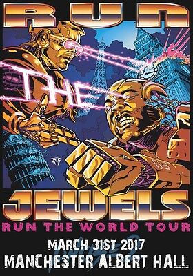 RUN THE JEWELS Manchester Albert Hall - 31st March 2017 PHOTO Print POSTER RTJ 1