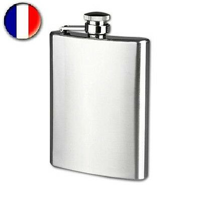 Fiole/Flasque A Alcool - Whisky Inox - 280 ml
