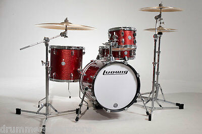 Ludwig Breakbeat by Questlove Drum Kit 4pc Red Sparkle w Bag Set