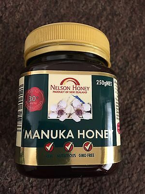 1 X 250g Jar 30+ MGO Bronze Raw Manuka Honey From New Zealand