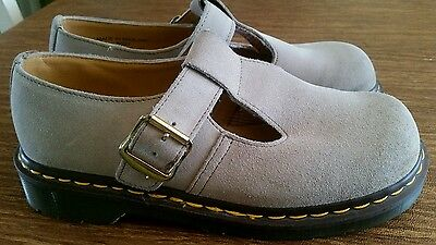 Dr Martens Womens Polley Virginia Shoes IVORY 5027 SIZE 6 Made in England