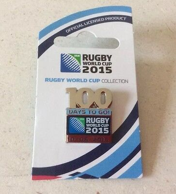 Official Rugby World Cup 2015 '100 Days to Go' Pin Badge