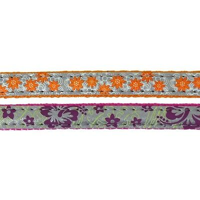 Rosewood Reflective Floral Assorted Velvet Kitten Cat Collar With Loud Bell