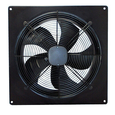 Industrial Ventilation Extractor Metal Plate Fan Axial Exhaust Commercial Blowe