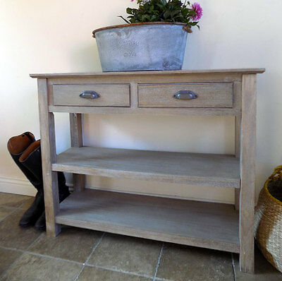Fairford slim twin drawer console table