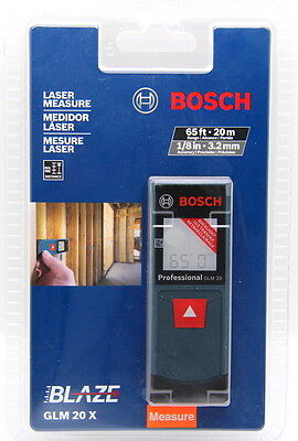 Bosch GLM 20 X Compact Laser Measure With Backlit Display 65 Ft.