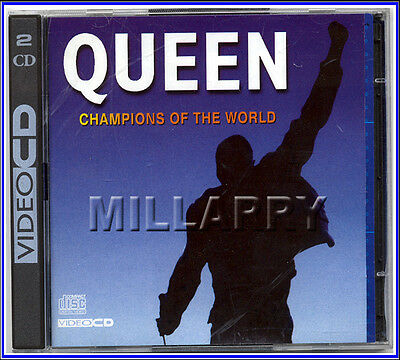 "Queen ""champions Of The World"" Rare Uk 2-Video Cd Disc Set 1995"