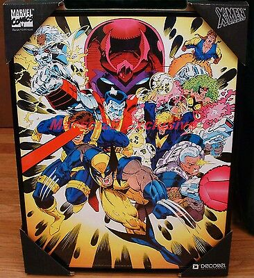 RARE MARVEL COMICS X-MEN X-FACTOR TEAM vs. MAGNETO FRAMED GREG CAPULLO ART PRINT