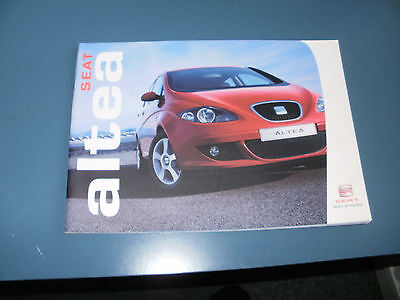 Seat Altea    Car Brochure  From  May  2004   Free Uk Post And Packing