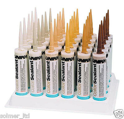 Unika ColorSealant 310ml Acrylic Gap Filler Mastic. Wood Colours. Waterproof