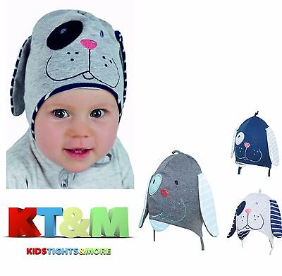 Baby Kid Boy Cotton Spring/Autumn Hat Cap with strings Doggy Face 3-4 months