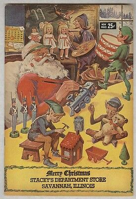 Merry Christmas Stacey's Department Store Savannah Illinois 1968 F/VF