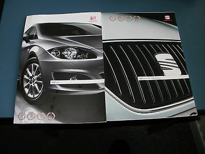 Seat Leon     Car Brochure  Pack  From  December 2010  Free Uk Post And Packing