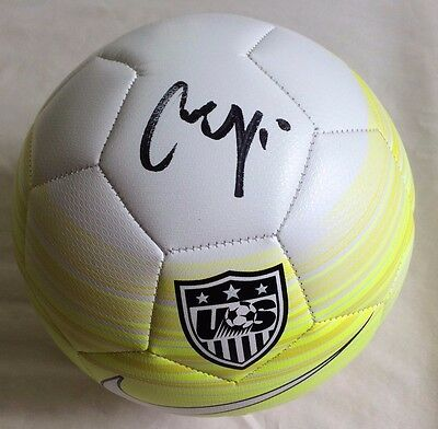 CARLI LLOYD Signed Authentic Team USA Nike Yellow Soccer Ball PSA ITP