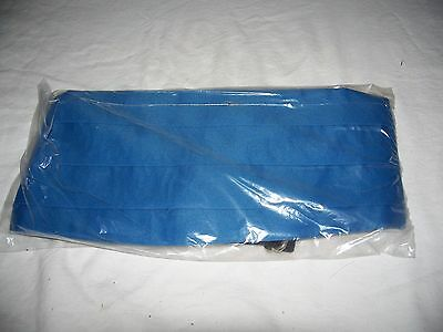 NEW Lord West Blue Cummerbunds 5 in Band Adjustable Fits 26 to 56