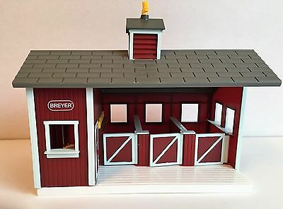 "BREYER Stablemates Red HORSE BARN Farm STABLE Toy Pretend Play Kids 9""x11"" Stall"