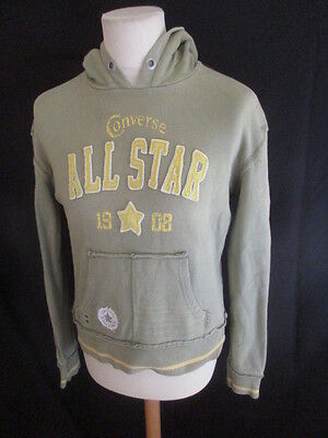Sweat vintage Converse Vert Taille 14 ans