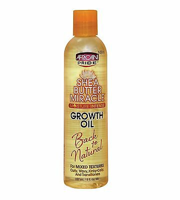 African Pride Shea Butter Miracle Moisture Intense Growth Oil 237ml / 8oz