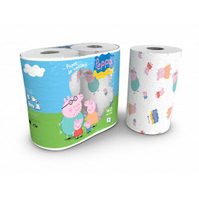 Peppa Pig 3 Ply Kitchen Roll Kitchen Towels Tissues - 2 Pack