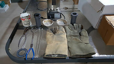 Gold/Silver Melting Digital Furnace Oven Kiln with Gloves, Crucible & Tongs