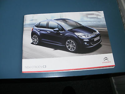 Citroen C3  Car Brochure   From July 2013   Free Uk P & P