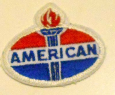 "American Gasoline Patch Embroidered Oil 2-3/8"" inches  Vintage Torch"