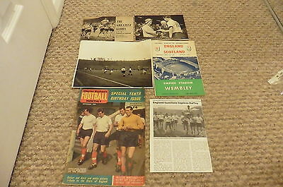 1961 England v Scotland 9-3 Win +Photo +Cuttings  Jimmy Greaves 3 goals 15/04/61