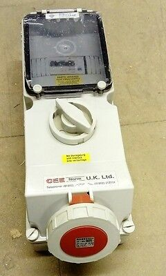 63amp 3 phase switched rcd outlet distro CEE Norm UK