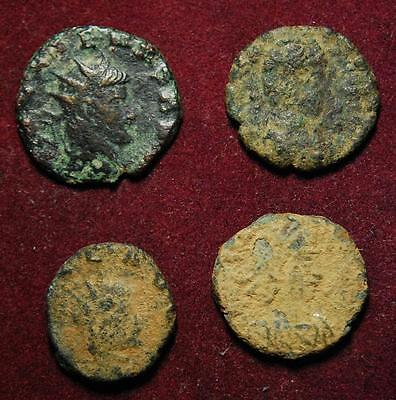 Set of 4 Roman Imperial AE coins - low grades